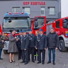 Burmistrz Edyta Zbieć odwiedziła strażaków OSP Kobyłka
