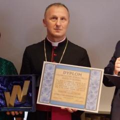 Tytuł Honorowego Obywatela Wołomina odebrali ks. biskup Marek Stolarczyk oraz burmistrz Szilárd István Németh