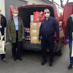 Mennica Metale Szlachetne i Coca-Cola HBC Polska przekazały gminie Radzymin środki ochrony i dezynfekcji