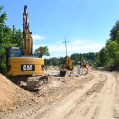 Budowa sieci kanalizacji sanitarnej i wodociągowej na osiedlu Klonowa – Norwida dobiega końca