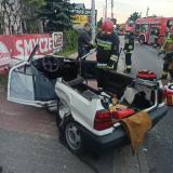 Wypadek dwóch pojazdów osobowych w Ząbkach