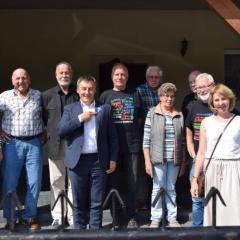 Delegacja Koła Żołnierzy Rezerwy Miasta Meppen z wizytą w gminie Wąsewo