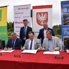 Podpisanie listu intencyjnego na budowę mostu na Narwi