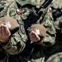 Przedostatnia przysięga terytorialsów z Mazowsza