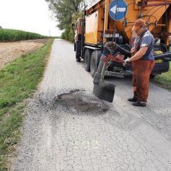 Remonty cząstkowe dróg gminnych w gminie Andrzejewo