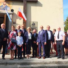 Osłonięcie tablicy pamiątkowej poświęconej pamięci kardynała Stefana Wyszyńskiego