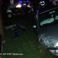 Wypadek samochodowy w miejscowości Chrzęsne