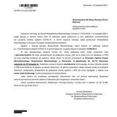 10 tysięcy złotych na przeciwdziałanie epidemii