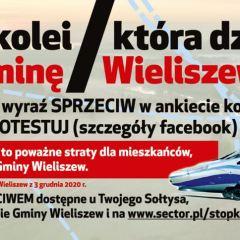 Zdecydowany Sprzeciw Rady Gminy Wieliszew wobec zaproponowanych wariantów przebiegu nowej linii  kolejowej