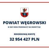 Najważniejsze inwestycje Powiatu Węgrowskiego w 2021 roku