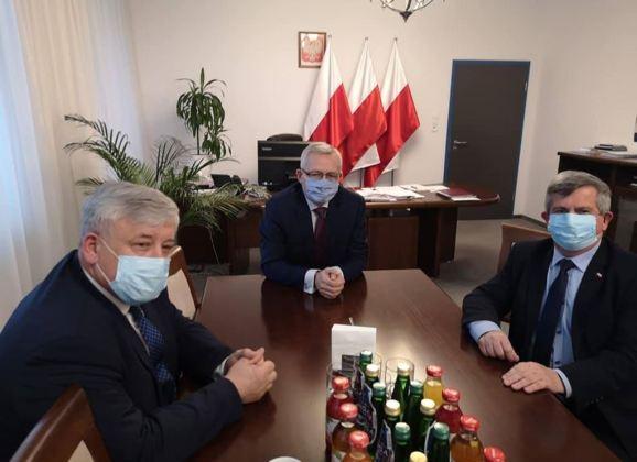 Spotkania władz Powiatu Wyszkowskiego z Ministrem Zagórskim i Wicewojewodą Dąbrowskim