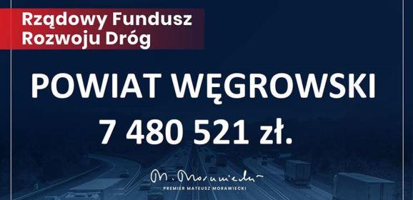 Prawie 16 mln zł na inwestycje drogowe na terenie powiatu węgrowskiego