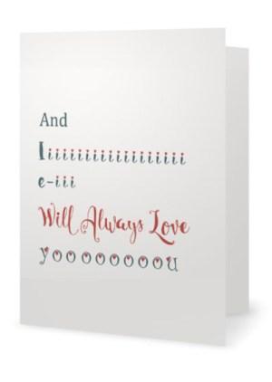 And I will always love you - dobbelt kort