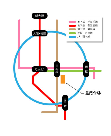 黑门,ichiba_line_map