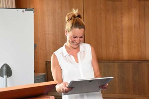 Carolin Röseler freut sich über die neue Position der Innovationsmanagerin in der Kurpark-Klinik