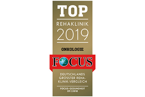 Focus TOP Rehaklinik 2018 Okologie Logo