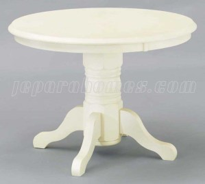 Meja Bundar Putih MJ019 Extension Table