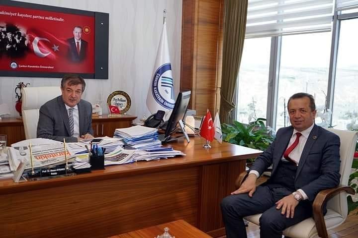 Çankırı Karatekin Üniversitesi Rektörü Hasan AYRANCI' yı Ziyaret…