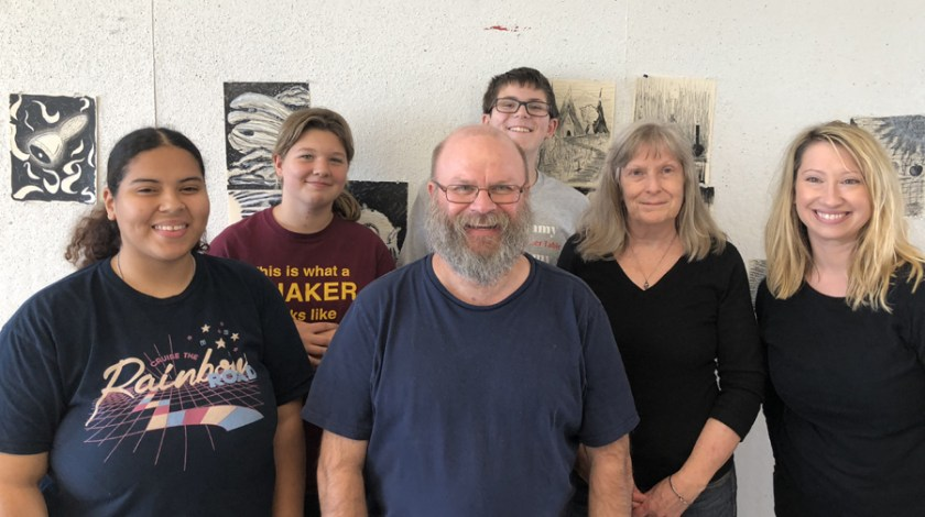 Students and I at the Fall DCAD Illustrating Fairy Tales Workshop 2018