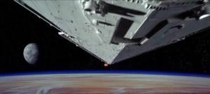 Star Destroyer over plant - Star Wars