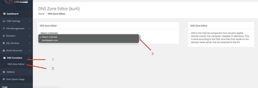 cwp Yandex smtp ayarları
