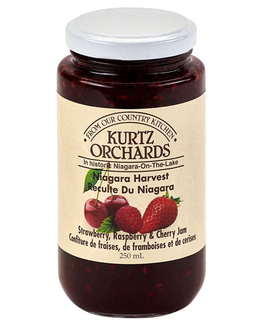 cherry raspberry strawberry jam