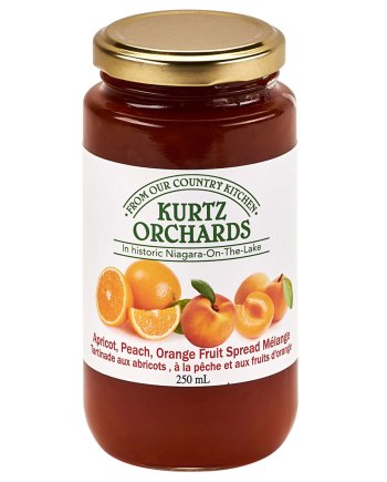 Apricot, Peach, Orange Fruit Spread Melange