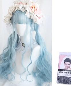 Kawaii Light Blue Lolita Wig
