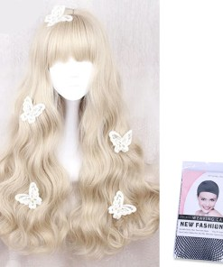 Kawaii Wavy Golden Hair Lolita Wig