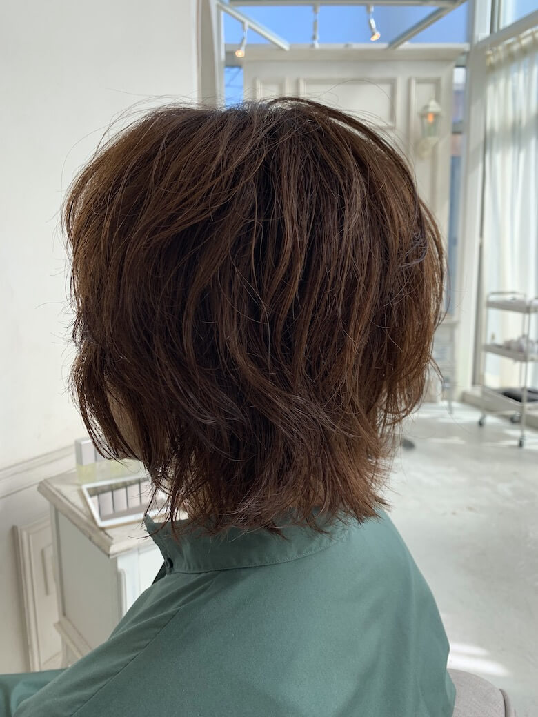 after,くせ毛を活かす