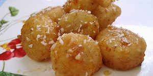 Banana Fritters with Sesame