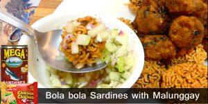 Bola bola Sardines with Malunggay