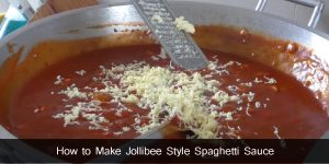 How to Make Jollibee Style Spaghetti Sauce