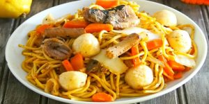 Pancit Canton With Sardines Recipe