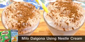 How to Make Milo Dalgona Using Nestle Cream