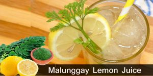 How to Make Malunggay Lemon Juice / Healthy Drinks
