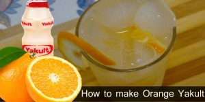 How to Make Orange Yakult - Healthy Drinks