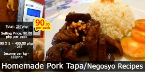 Homemade Pork Tapa with Costing /Negosyo Recipe