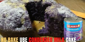 How to Make No Bake Ube Condensed Milk Cake