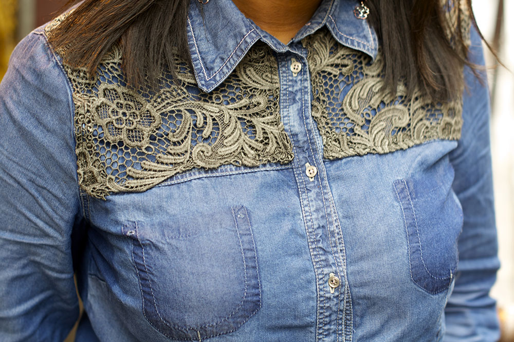 Customisation d'une chemise en jean   Kustom Couture