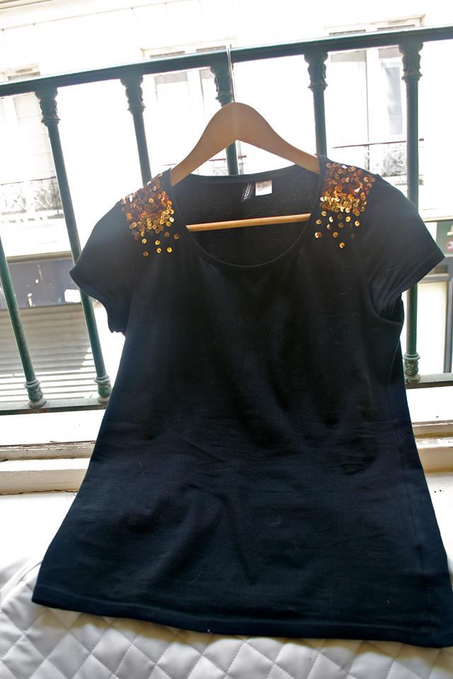 DIY pour haut noir simple | Kustom Couture