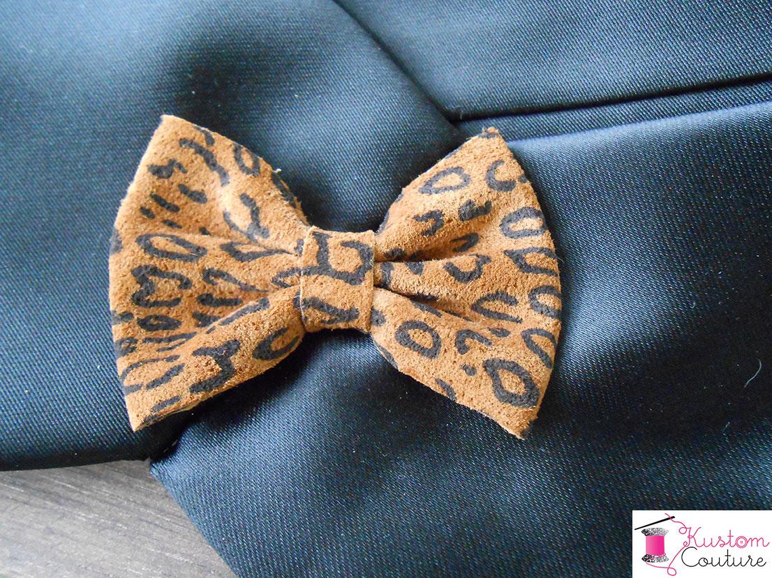 Ceinture-cravate léopardesque   Kustom Couture