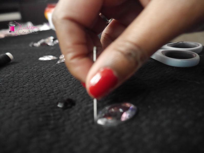 DIY haut basique strass | Kustom Couture