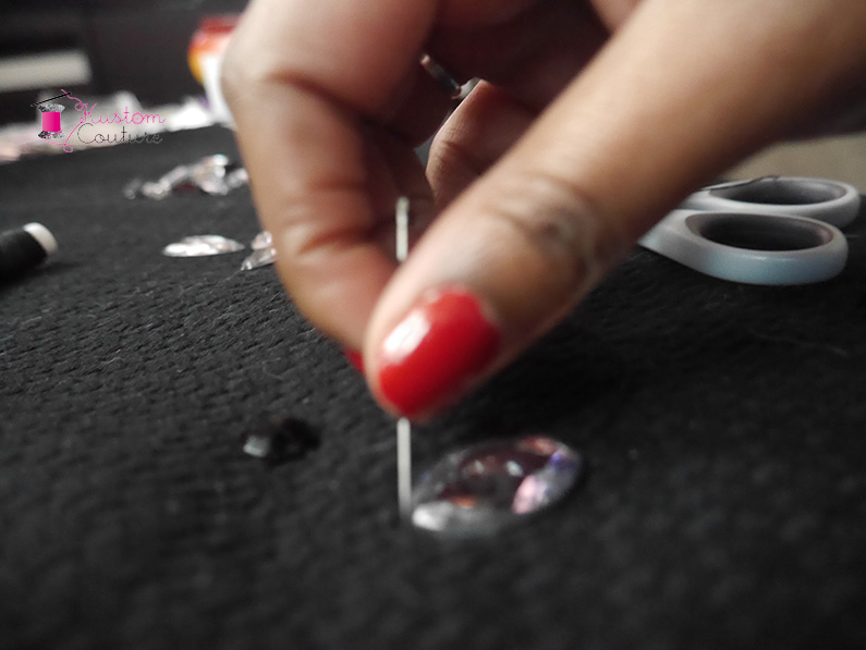 DIY haut basique strass | Kustom Couture