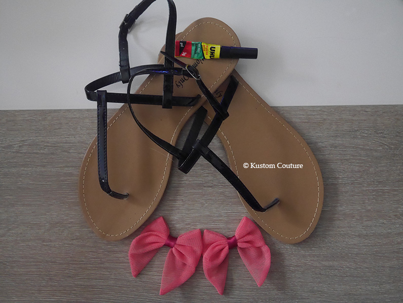 Customisation de nu-pieds avec noeuds   Kustom Couture