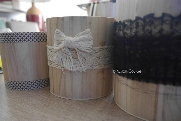 Customisation de pots en bois | Kustom Couture