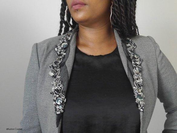 Customiser un blazer basique avec du ruban   Kustom Couture