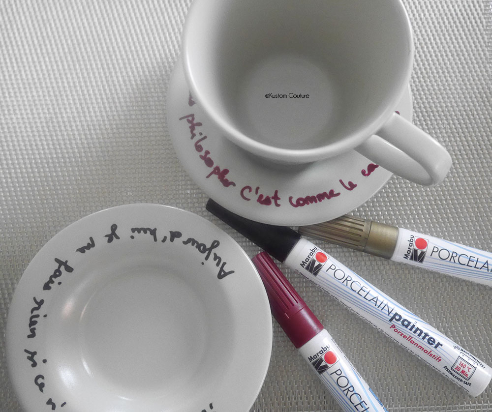 Customiser des tasses de café | Kustom Couture
