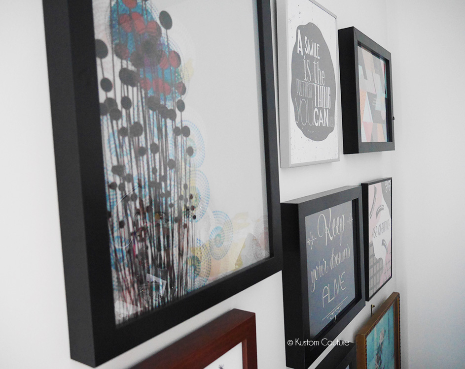 DIY mur de cadres | Kustom Couture