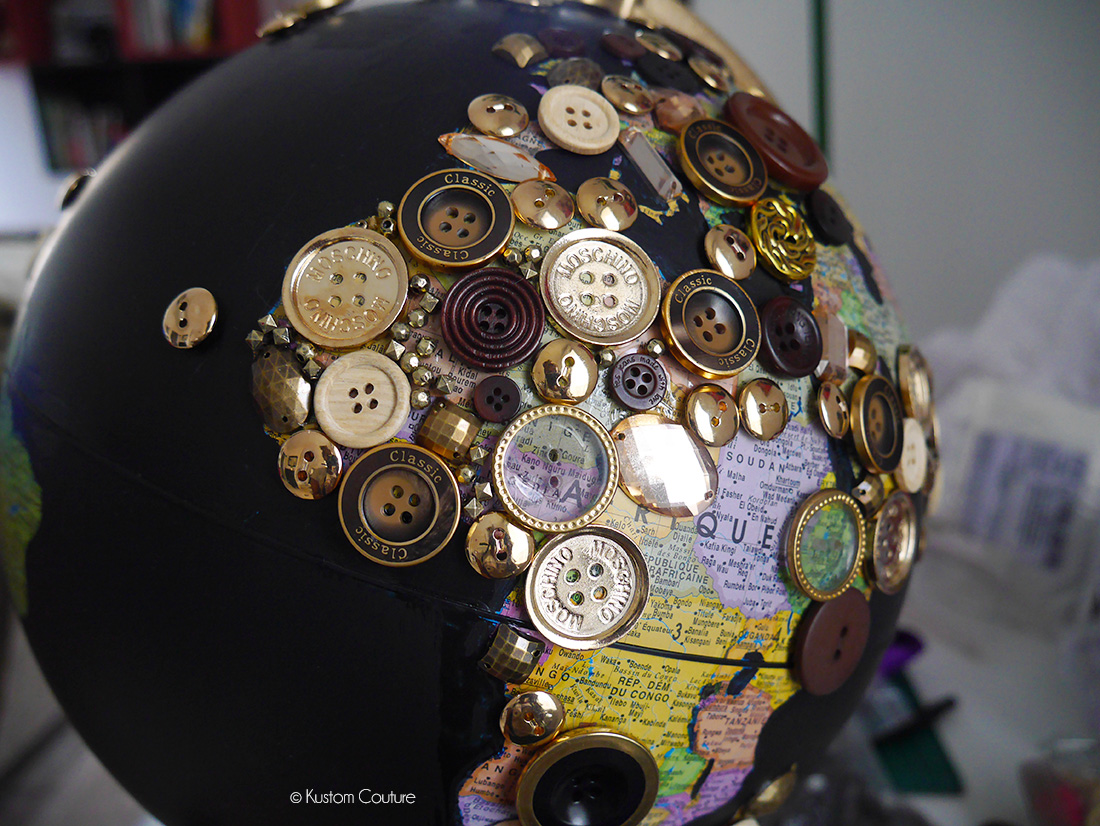 Comment customiser un globe terrestre ?   Kustom Couture
